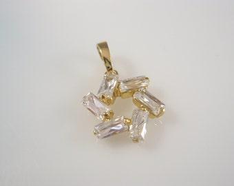 star of david  kabbalah  magen david  cz israel 14k gold filled pendant