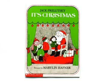It's Christmas by Jack Prelutsky, pictures by Marylin Hafner, 1981, Paperback book, Vintage Children's Book, Vintage Library, Christmas Book