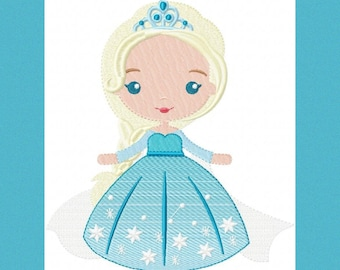 Elsa embroidery design frozen embroidery designs machine embroidery pattern disney princess applique design girl embroidery instant download
