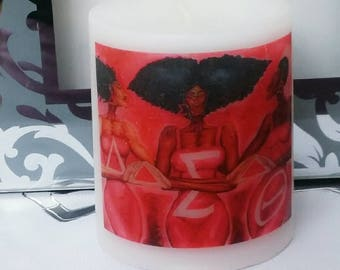 Delta Sigma Theta Sorority Candle, logo candle, personalized candle, birthday gift, anniversary gift