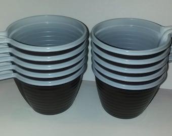 20 pcs Plastic coffee cups, Disposable coffee cups, Picnic supplies, 6,08oz (=180ml), NEW Coffee, Tea Brown Mugs