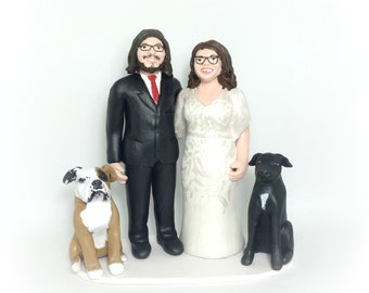 Portrait Cake Topper - Personalised Realistic Wedding Cake Topper hand carved to resemble you