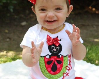 Watermelon outfit for baby girls -- Summertime Picnic -- personalized bodysuit, leg warmers, bow with headband  - Sizes NB to 24m
