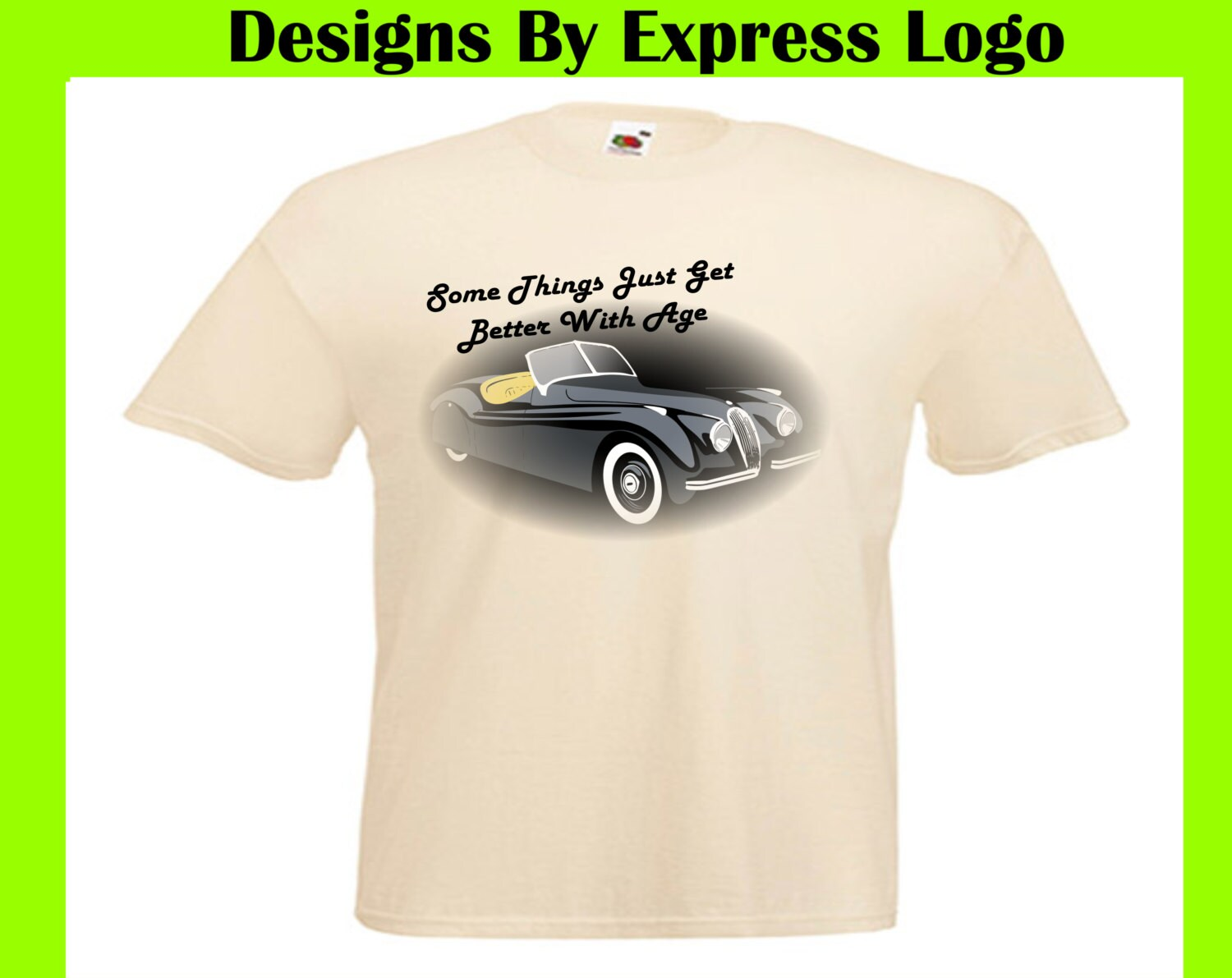 Jaguar XK120 Jag Vintage Car Things Get Better With Age Printed ...