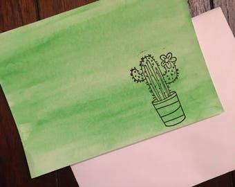 Cactus Note Card
