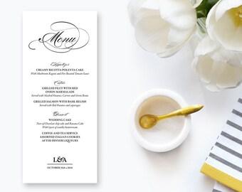Printable Wedding / Rehearsal Dinner Menu (04)