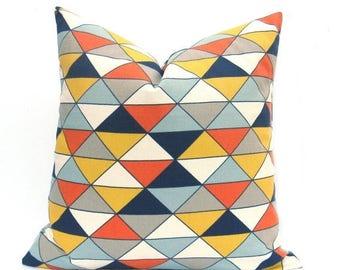 15% Off Sale EURO Pillow, Euro pillow Cover - Navy Pillow - Blue - Euro Sham Blue - Mid Century Modern - Designer pillow - Euro pillow Case