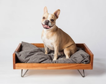 Custom Dog Furniture | Raised Dog Bed | Washable Dog Bed | Mid-Century Dog Bed | High End Dog Bed | MCM Dog Bed | Eco-Friendly Pet Furniture