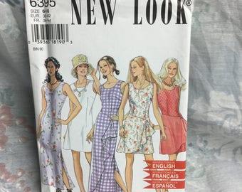 New Look 6395 Misses Maxi Dress boho peasant vintage sewing pattern Uncut Plus Sizes 6-16