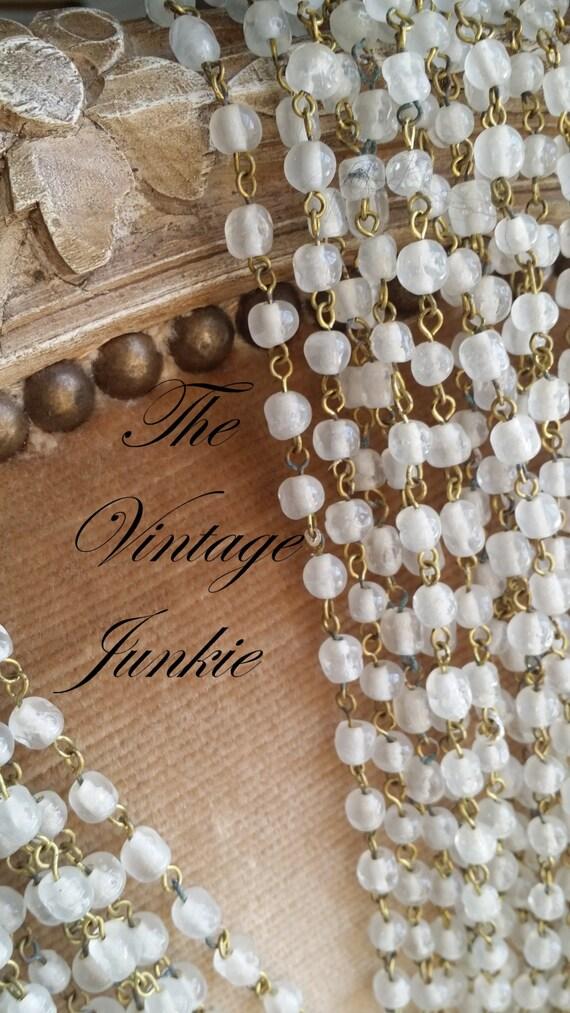 The Vintage Junkie...Vintage Milk Glass Beaded Necklaces