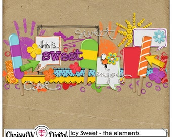 Icy Sweet - Elements for Digital Scrapbooking