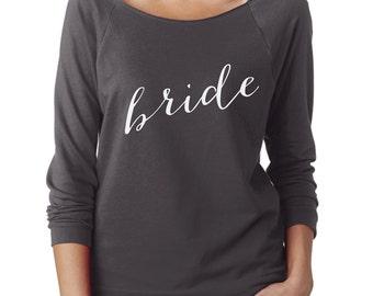 Bride Shirt, Long Sleeve Shirt, Bridal Party Shirt, Bachelorette Party Shirt, Wedding, Bachelorette Gift, Bridal Shower Gift, Shirt