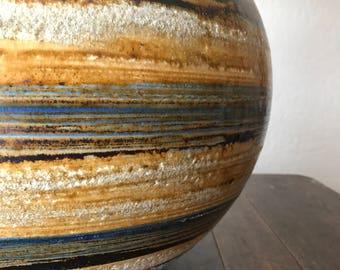 Large Mid Century 'Saturn' Art Pottery Lamp   Vintage Ceramic Table Lamp