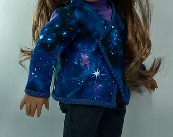 Wrap Cardigan and Boot Cut jeans with Tee for 18 inch Dolls such as AG