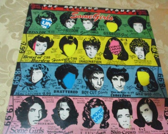 Vintage 1978 LP Record The Rolling Stones Some Girls Rolling Stone Records Very Good Condition 16366
