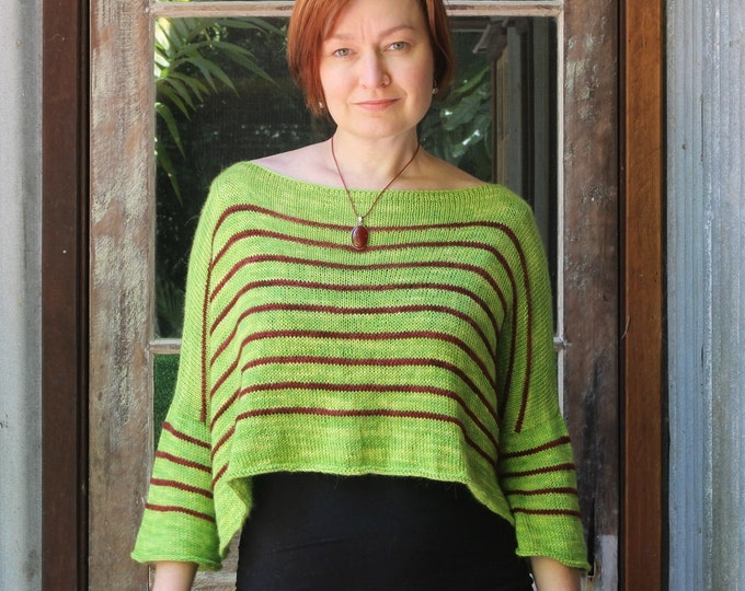 Stripey Linier Sweater Pattern.  PATTERN ONLY!!!