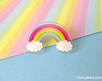 Lesbian & Gay Rainbow Pride Acrylic Pin