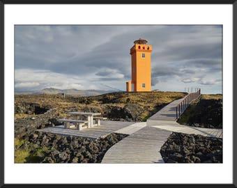 Skalasnagi Lighthouse - Land of Fire and Ice - Iceland - Snæfellsnes - Travel - Color Photo Print - Fine Art Photography (IC02)