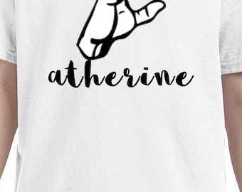 Letters in ASL shirt, American Sign Language alphabets, ASL, names in ASL shirt