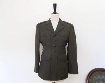 Vintage army dress jacket size 36 XS, green army jacket