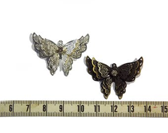 Silver or bronze Butterfly pendant.