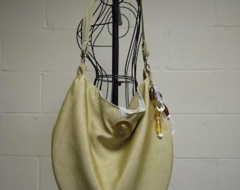 Soft Slouch Shoulder Bag in Spun Gold CLEARANCE