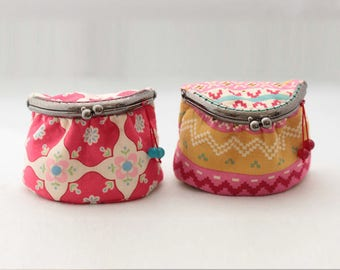 Coin purse pattern Clasp purse metal frame purse PDF Sewing Pattern & Tutorial with Photos