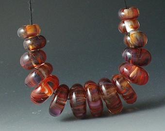 Lampwork beads/SRA lampwork/beads/disks/pomegranate/