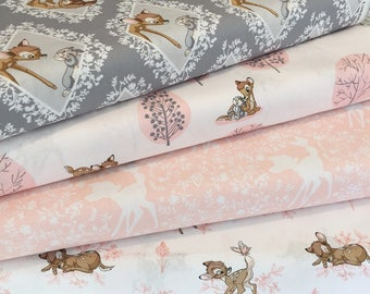Bambi Collection Fat Quarter Bundle - 100% Cotton, Quilting and Patchwork Fabric