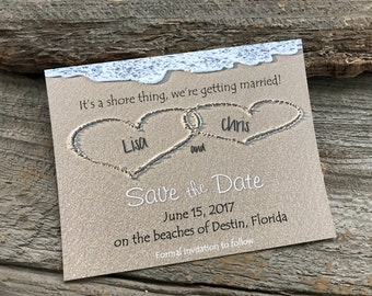 Beach Save the Date,Sand Save the Date, Destination save the date,Heart Save the Date, Wedding Save the Date,Heart in the Sand