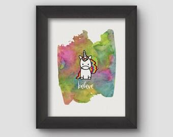 Instant Download Unicorn Print – Unicorn Art – Digital Download