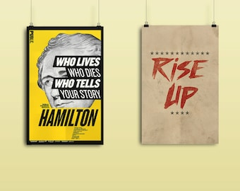 VALUE BUNDLE -  Two Hamilton Musical Posters