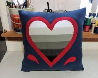 Gradient Heart Pillows