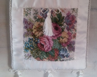 Medieval Inspired Satin and Tapestry Purse
