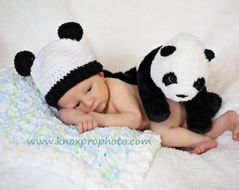 Panda Baby Costume, Hat With Ears, White Bear Hat, Newborn Bear Prop, Little One, Bear Beanie, Baby Boy Crochet, Toddler Girl, Infant Hat