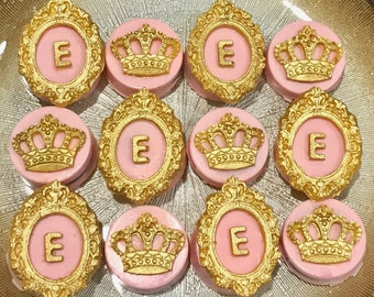 Pink or Blue, Initial Chocolate Covered Oreo's, Princess, Prince