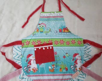 Critters & Frosty Christmas Apron