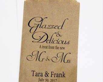 Donut Favor Bag, Wedding Favor Bags, Donut, Personalized Wedding Favor Bags, Custom Favor Bags