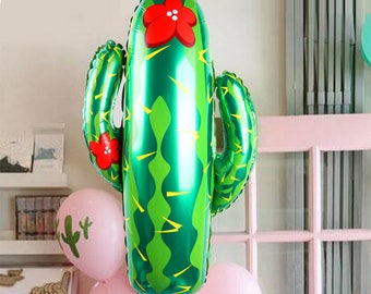 Cactus Balloons Fiesta Decorations Large Green Balloon Forest Plants Party Western Cowboy Birthday Fiesta Party Cacti Party Decoration
