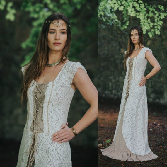 Natural Fairytale Wedding Dress Natural Wedding Dress Celtic