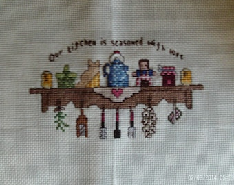 Counted cross stitch-kitchen