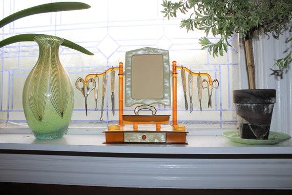 Art Deco Celluloid Vanity Set Vintage 1920s Dresser Set