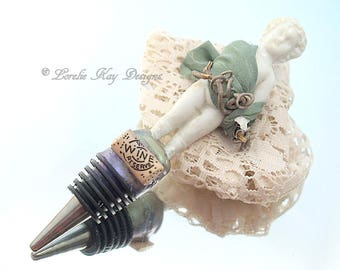Bacchus Frozen Charlotte Wine Bottle Stopper Lorelie Kay Original Wine Lover Gift Lorelie Kay Original