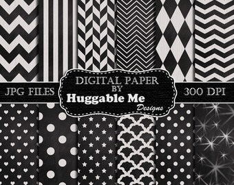 Digital Chalkboard Paper, Instant Download Chalkboard Scrapbook Paper, Commercial Use Printable Scrapbook Paper - HMD00109