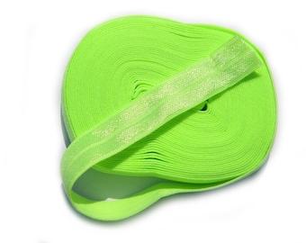 "5 Yard Roll of Neon Green Foldover Elastic FOE 16mm 5/8"" wide"