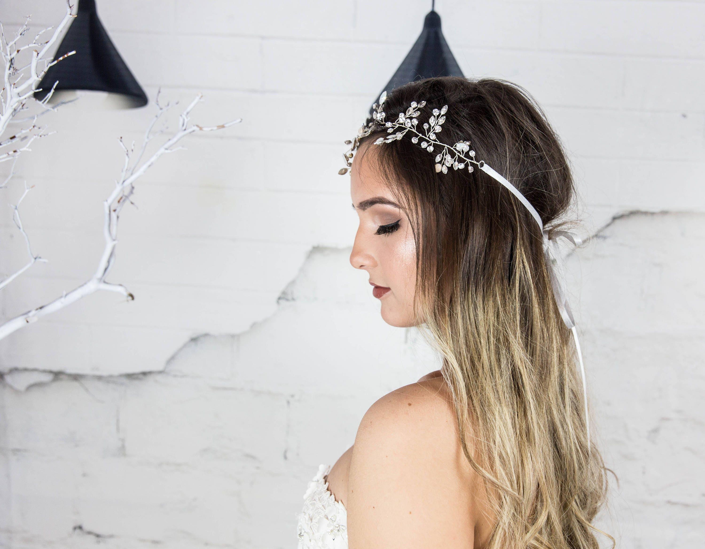 Bridal Hair Vine Swarovski Headband, Wedding Hair Wreath, Crystal ...