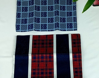 Vintage Mens Pocket Squares 1960's