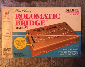 Vintage Milton Bradley RomaticBridge Machine Game