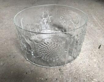 """iittala Flora Bowl Oiva Toikka Mid Century 9"""" Diameter"""