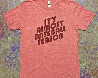 It's Almost Baseball Season Tee-Red-Alternative Apparel
